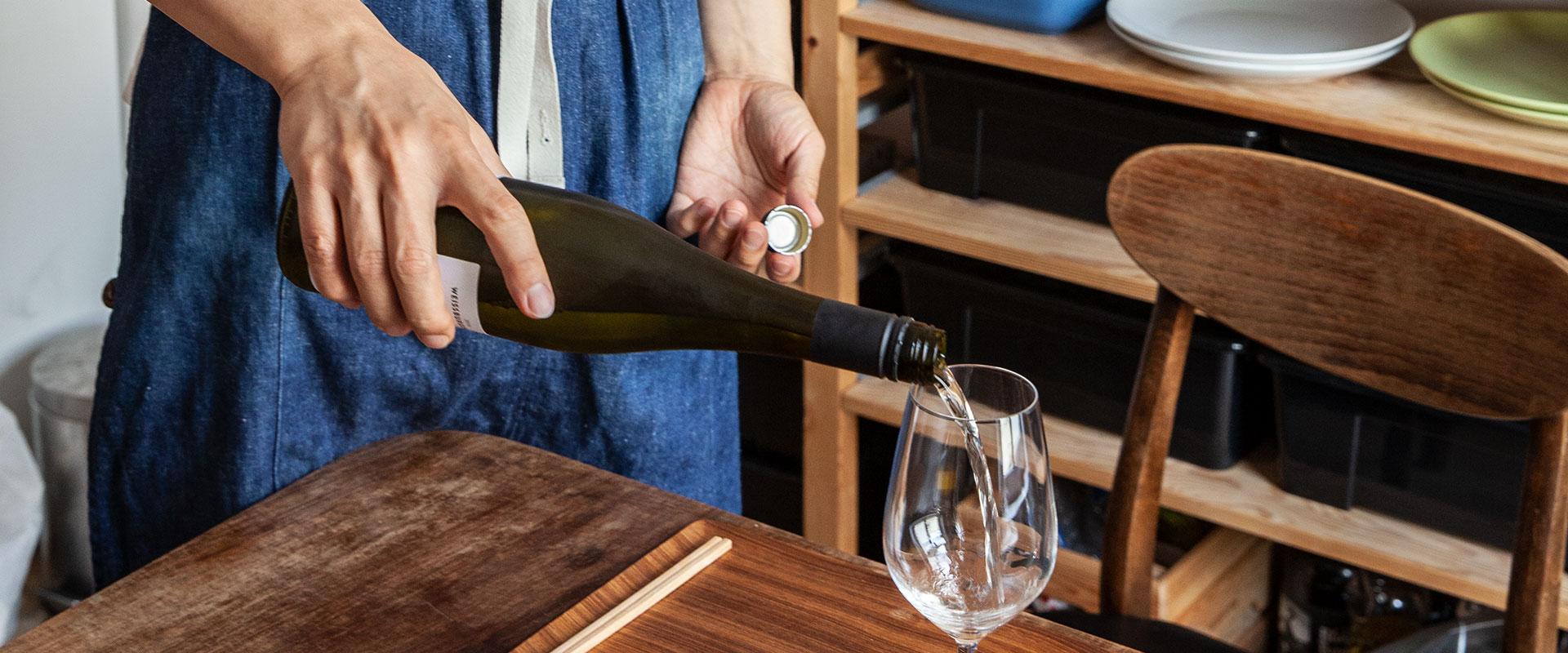 Wein aus dem Event Nice to sea you im Authentic Küchenstudio berlin